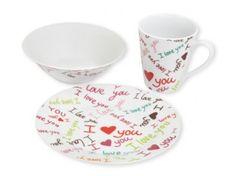 Vajilla Infantil Love 3 Piezas http://gourmet.mequedouno.com.mx