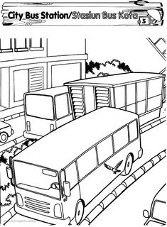 Double decker bus line coloring page. Like the KMB bus or