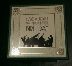 Male birthday card. Simple, quick but elegant.