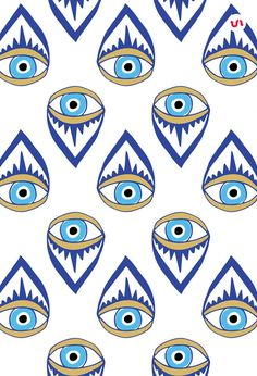 40 Evil Eye Illustrations PLUS 20 Evil Eye Seamless Patterns. The Evil Eye is a curse believed to be cast by a malevolent glare, usually given to a person when they are unaware. Many cultures believe that receiving the evil eye will cause misfortune or i Eyes Wallpaper, Iphone Wallpaper, Pattern Art, Pattern Design, Eye Pattern, Evil Eye Art, Eye Illustration, Realistic Eye Drawing, Posca Art