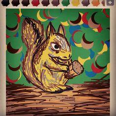 Squirrel handed Acorn / animal / 도토리를 든 다람쥐
