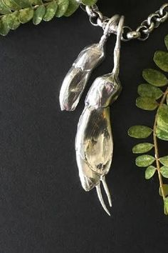 Silver Kowhai Flower on sterling silver snake chain Snake, Sculptures, Things To Come, Felt, Jewellery, Sterling Silver, Chain, Flowers, Beautiful