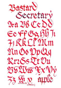 Bastard Secretary Gothic majuscule and minuscule template Calligraphy Fonts Alphabet, Tattoo Fonts Alphabet, Tattoo Lettering Fonts, Calligraphy Quotes, Handwritten Letters, Lettering Styles, Typography Letters, Penmanship, Gothic Lettering