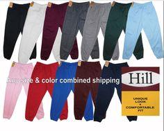 Solid Plain Sweat Pants Fleece Jogger W Elastic Bands Warm Harem Casual S-5Xl