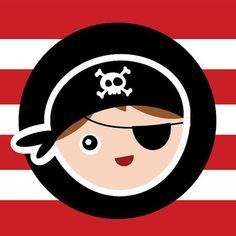 Steffanina - Decorações de Festas e Eventos: Ideias Decoração de Festas - Piratas Mickey Mouse Parties, Mickey Mouse Birthday, Toy Story Party, Toy Story Birthday, Pirate Birthday, Pirate Theme, Pirate Crafts, Party Flags, Cat Party
