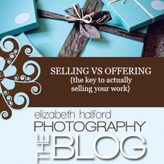 Selling vs Offering {actually selling your work}