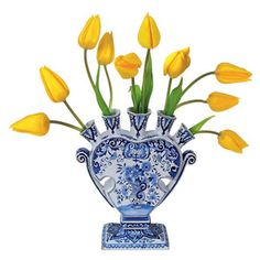 Flowers Decal Delft Tulip Yellow now featured on Fab. $11
