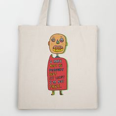 Not perfect  Tote Bag by PINT GRAPHICS - $18.00