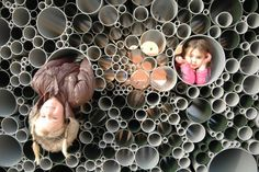 Here's the other side. Adults were usurping their space! PVC pipes form an interactive pavilion for children to play | Designbuzz : Design ideas and concepts