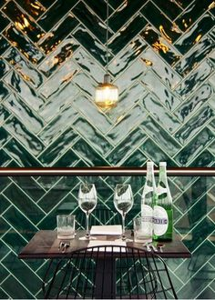Half tile donkergroen victorian green 7,5 x 15 cm visgraat per m2