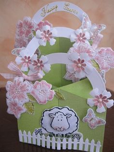 Easter cascading card