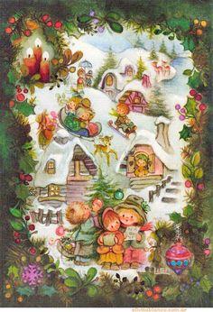 Postales Navideñas Lisi Martin, material uso escolar, diseño, ideas, trabajo manual