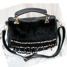 Fashion quality women's fur handbag rhinestone decoration tassel handbag messenger bag-inMessenger Bags from Luggage & Bags on Aliexpress.co... 12,99€