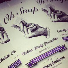 Oh Snap! Graduation Party Invitations #invite #printable