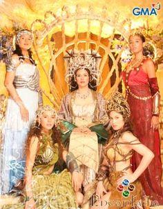 Minea with her daughters: Pirena, Amihan, Alena and Danaya.