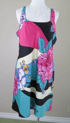 N by Josie Natori Beijing Flower Chemise Nightgown Polyester Charmeuse XL NWT #Natori #BabydollChemise