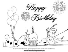 Nice Happy Birthday Cupcake Coloring Pages #3933 Happy ...