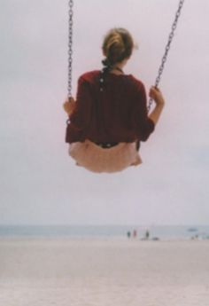 Remember the feeling of swinging high in the air. So high, that there's that little jump as you leave your seat for just a moment. The thrill of your heart pounding, and your breath quickening. You can't help but smile, because you feel so alive and free.