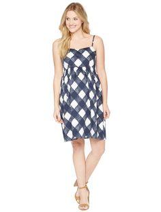 Motherhood Maternity Strapless Belted Maternity Dress