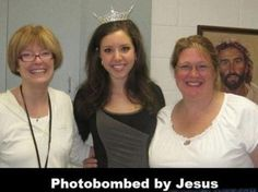 Photobombed by Jesus!