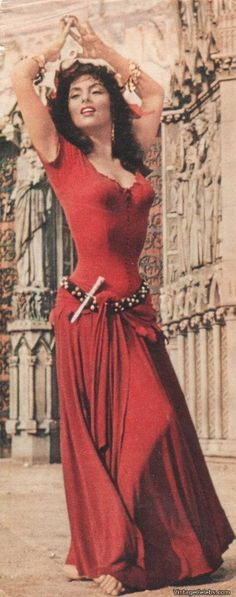 Gina Lollobrigida In The Film 'notre Dame De Paris:
