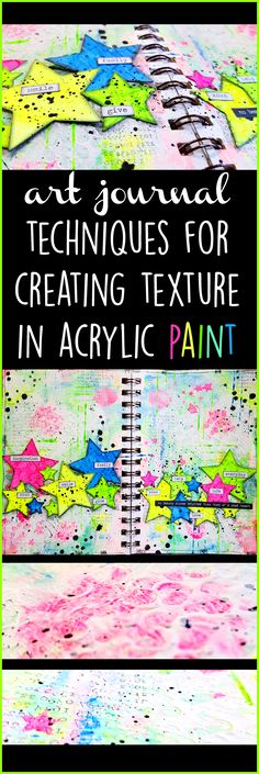 Techniques for Creating Texture in Acrylic Paint - Mixed Media Art Journal for Beginners #artjournaling