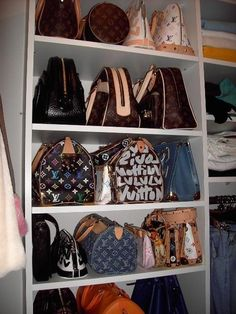 I want shelves/cubbies like this for my handbags in my closet