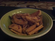 Original Pin:  http://pinterest.com/pin/216524694555885764/      Well, these are very very good indeed.  However, I would advise adding some seasoning, even though the recipe does not call for any.  They were still good, but they could have been better.  The corn starch does help in making them crispy for sure.  These are on the repeat list.  =)