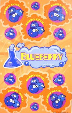 Blueberry Stink Factory scratch and sniff stickers - 2012