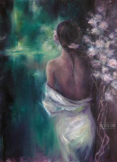 """Rainy Caress, oil on canvas. """"Repinned by Keva xo""""."""
