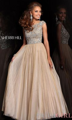 Cap Sleeve Gown. Would look gorgeous in white!
