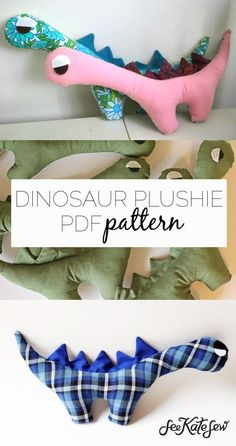 RAWR Dinosaur Plushie and PDF Pattern | kids toy tutorials | sewing kids toys | sewing baby toys | DIY baby toys | DIY stuffed animals |sewing tutorials | sewing patterns | DIY kids toys | DIY sewing tips | sewing tips and tricks || See Kate Sew