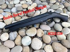 Double Barrel Paintball Shotgun is powered by located in the pistol grip. Lightweight polymer frame with internal metal parts including the trigger and hammer. Holds 2 Caliber paintball, one in each barrel. Double Barrel, Paintball, Shotgun, Metal, Check, Metals, Shotguns
