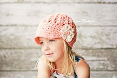 Tea Rose Crochet Baby Hat Baby Girl Clothes by PBlossomBoutique, $27.00