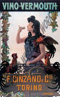 Vino Vermouth Cinzano Torino