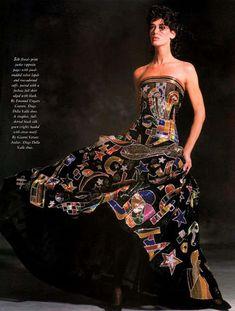 Givenchy, Valentino, Versace Fashion, Versace Dress, Runway Fashion, Strapless Corset, Strapless Dress Formal, Jean Louis Scherrer, Vintage Versace