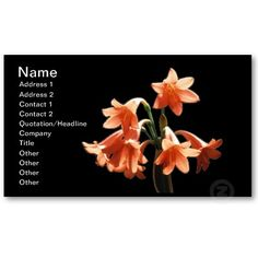 A #business card for #flowers lovers or people in the #botanical area $19