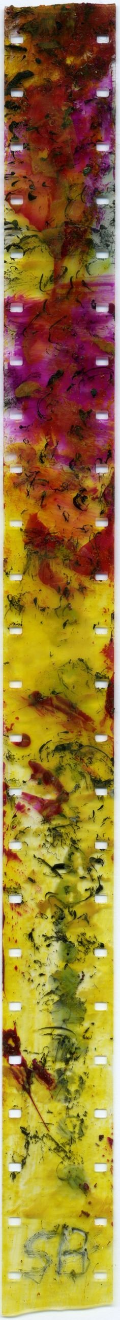 Film Strip by Stan Brakhage. Image Courtesy of the University of Colorado at Boulder.