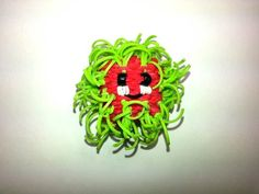 Happy Rambutan Tutorial by feelinspiffy (Rainbow Loom) Rainbow Loom Tutorials, Rainbow Loom Bands, Rainbow Loom Charms, Rainbow Loom Bracelets, Projects For Kids, Crafts For Kids, Arts And Crafts, Rubber Band Crafts, Rubber Bands