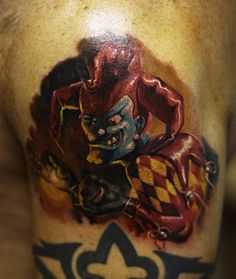 Evil clown tattoo pretty cool actually.