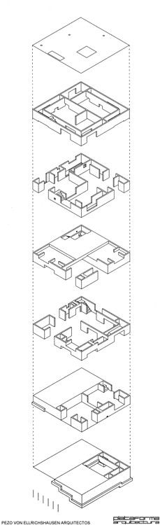 Casa Poli - Pezo von Ellrichshausen,Isométrica