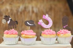 Giddy Up Cowgirl Cupcake toppers Set of 12 by EMTsweeetie on Etsy, $9.00