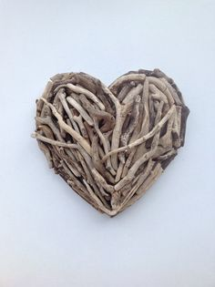 Simple driftwood heart small by NeverGreenTrees on Etsy