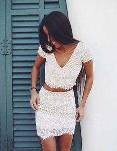 #summer #fashion / lace + lace