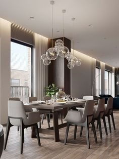 Who doesn't want to have a modern and stylish dining room? Check this list of contemporary dining room ideas out that'll make you stunned! Luxury Dinning Room, Elegant Dining Room, Dining Room Design, Dining Room Curtains, Dinning Room Tables, Dining Room Furniture, Dining Rooms, Dinning Room Lights, Shower Curtains