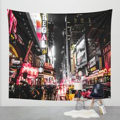 New York City Night II Wall Tapestry by Nicklas Gustafsson | Society6