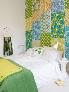 I am doing this to my spare bedroom!  It looks like a magical quilt :)
