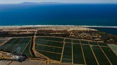 Aerial Photography Ventura - Aerial View of Coastal Farm