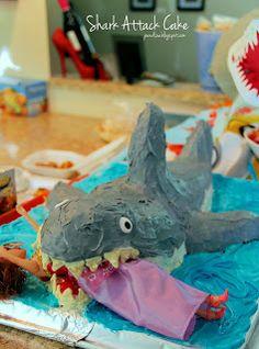 Shark Attack Cake!