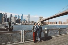 It was such a pleasure to work on Mario and Alessandro NYC elopement which was officiated by David near the Brooklyn Heights Promenade. This event marked another successful collaboration with fabulous event planner Sola en NY. Brooklyn Bridge Park, Brooklyn Heights, New York Skyline, Mario, Gay, Wedding, Travel, Valentines Day Weddings, Viajes